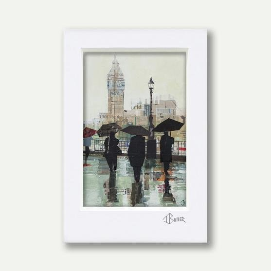 Southbank Reflections, A3 Mounted - Tom Butler Artist