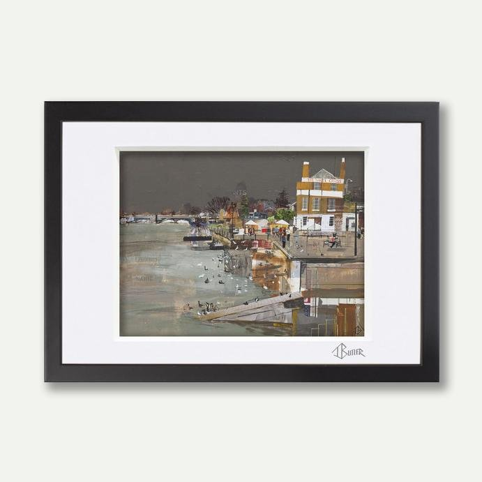 The White Cross, Richmond, A3 Framed - Tom Butler Artist