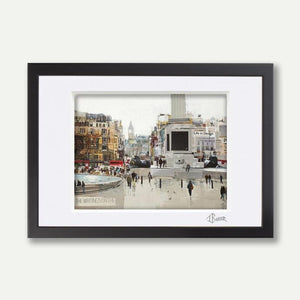 Two Lions, Trafalgar, A3 Framed - Tom Butler Artist