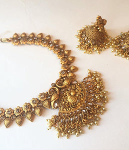 Matte set with gorgeous jhumkas
