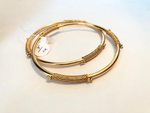 Simple plain gold bangles