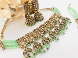 Mint choker set SAHDIA