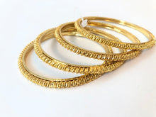 Load image into Gallery viewer, Gold plated bangles