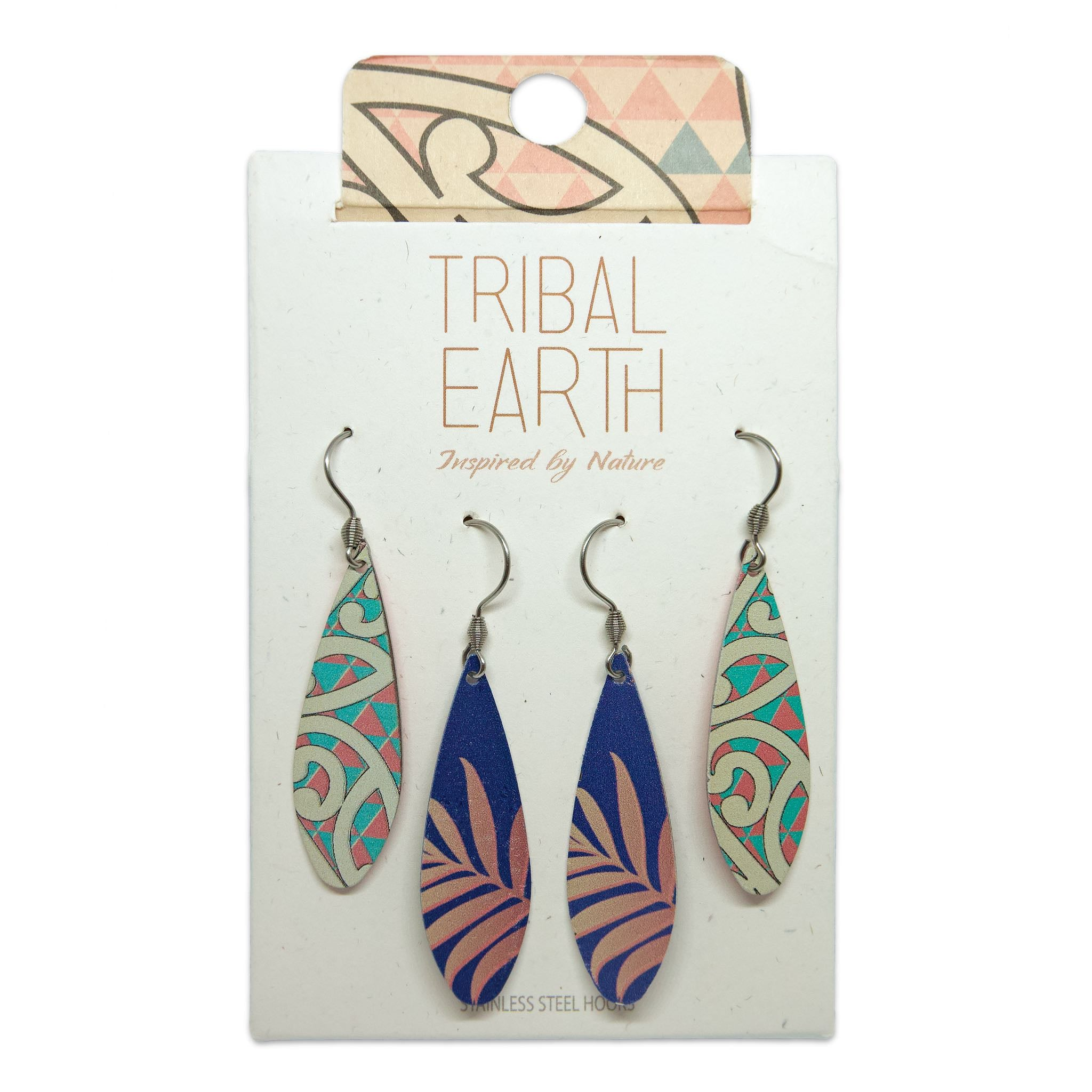 Teardrop earring set. Designed in New Zealand. www.tribalearth.co.nz