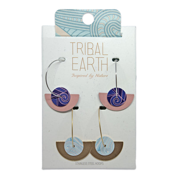 Interchangeable fan hoop earring set. Designed in New Zealand. www.tribalearth.co.nz