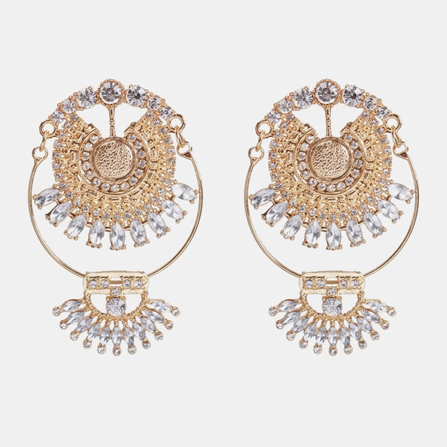 Golden Eye Deco Drop Earrings - Oneposh