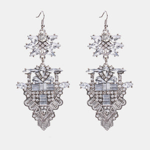 Celestia Deco Drop Earrings - Oneposh