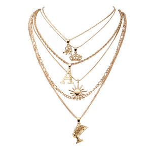 Elephant Crown Multilayer Necklace - Oneposh