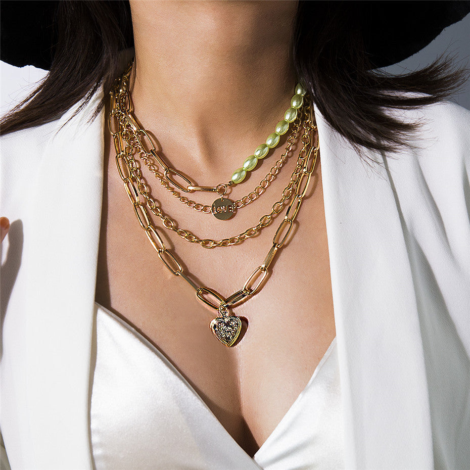 Multi Layer Baroque Necklace - Oneposh