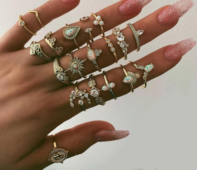 Sarah chick rings set - Oneposh
