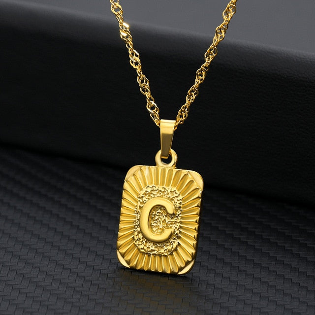 Gold Initial Necklace - Oneposh