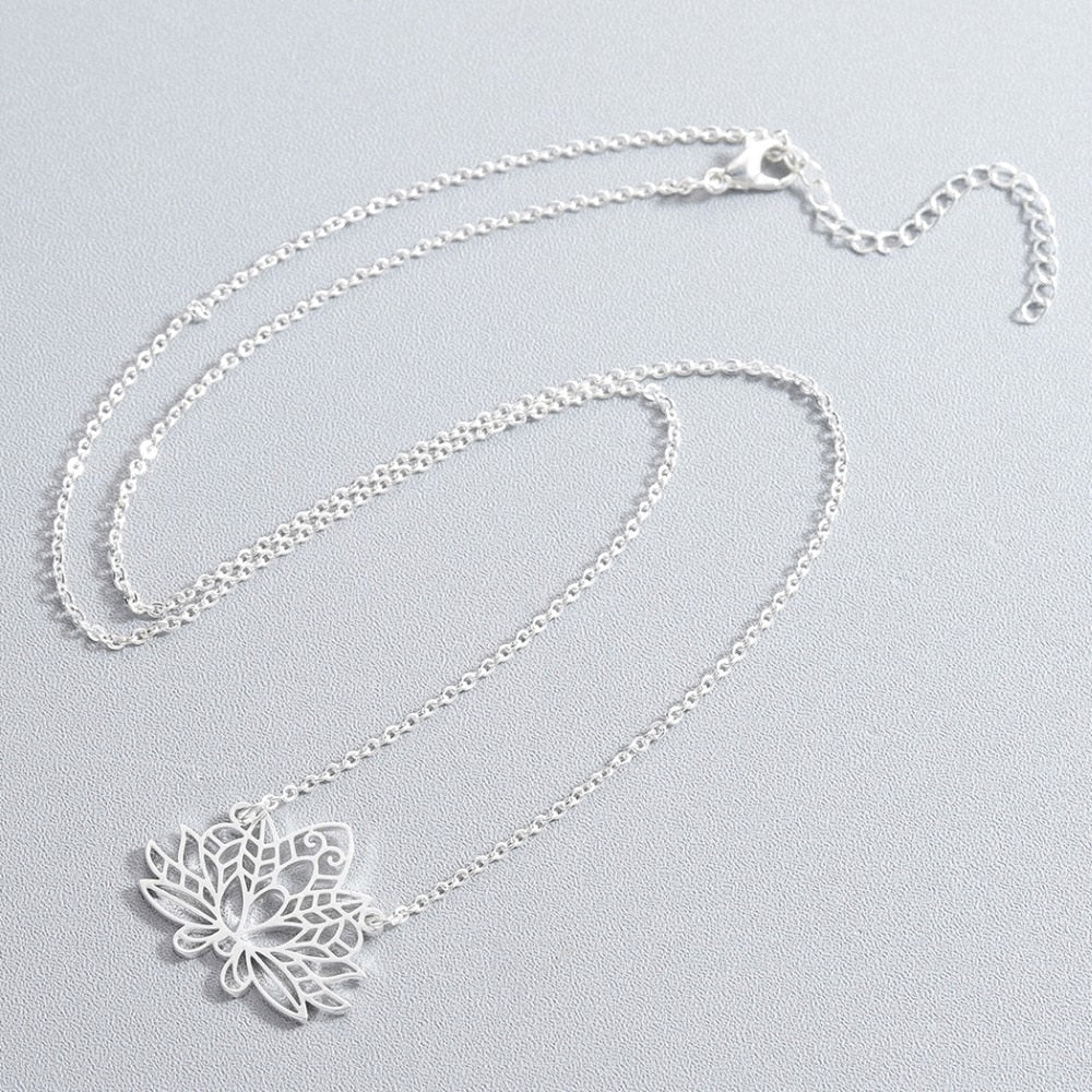 Flower Stainless Steel Necklace - Oneposh