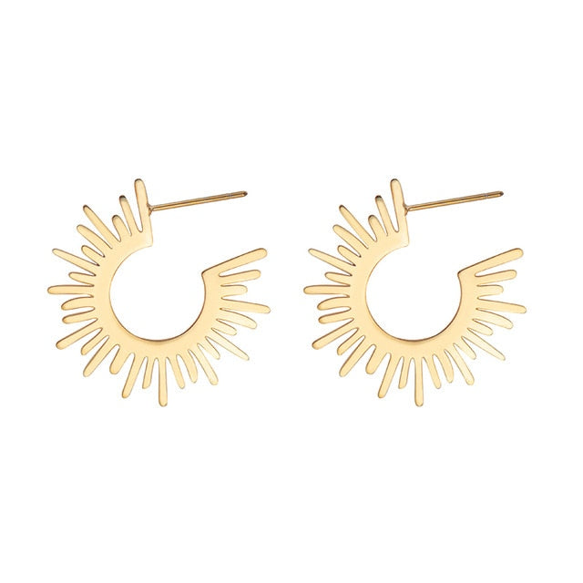 Half Circle Spiked Earrings - Oneposh