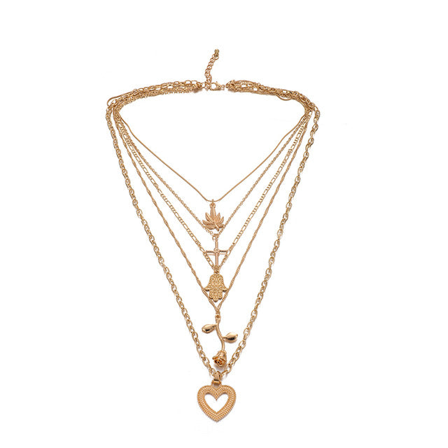 Angel Bohemia Pendant Necklace - Oneposh