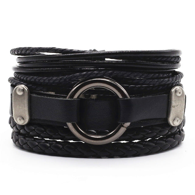 Connor 4 Pcs Leather Bracelets Set - Oneposh