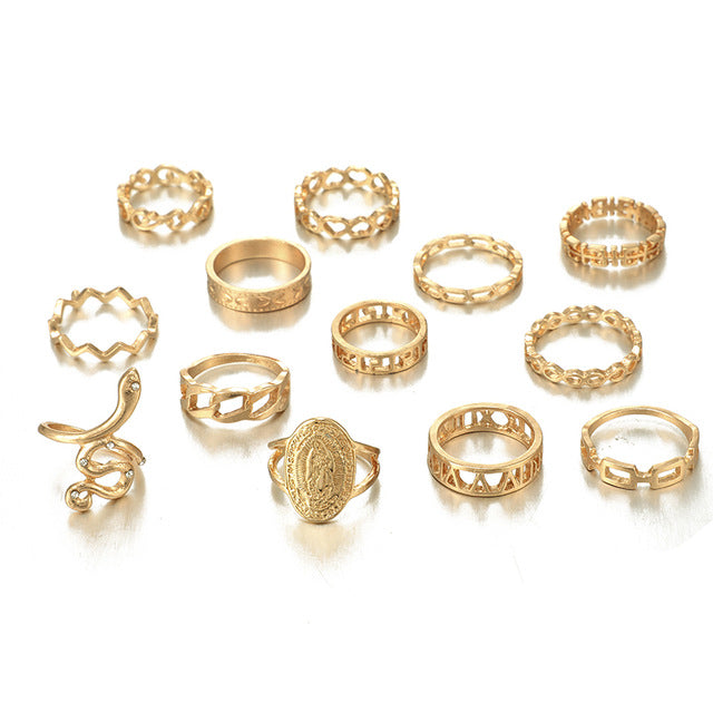 13pcs/sets Virgin Mary Rings Sets - Oneposh