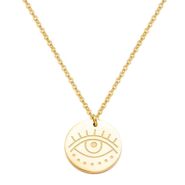 Adrielle Eye Stainless Steel Necklace - Oneposh