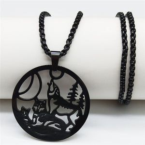 Wolf Stainless Steel Necklace - Oneposh