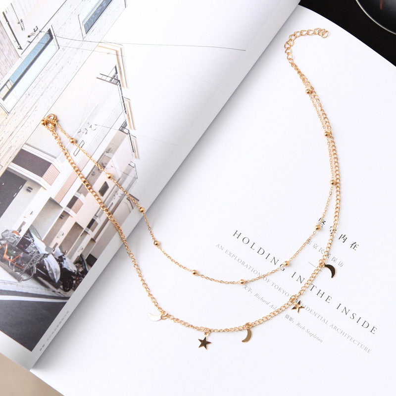 Star and Moon Necklace - Oneposh