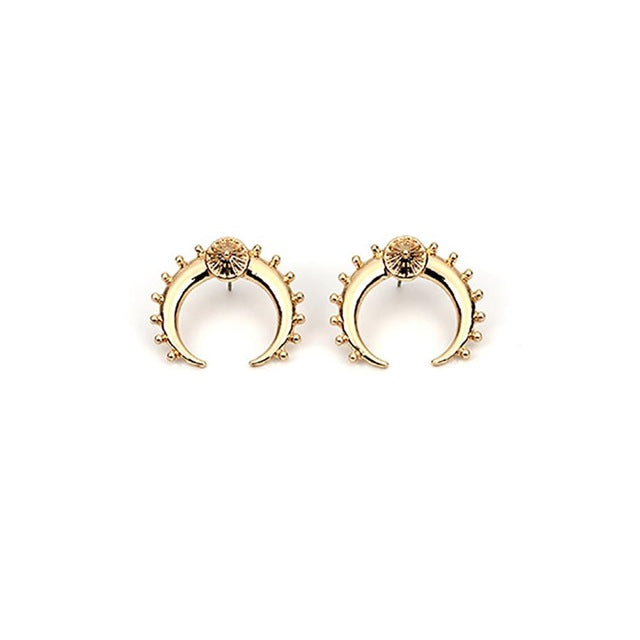Aponi Crescent Moon Earrings - Oneposh