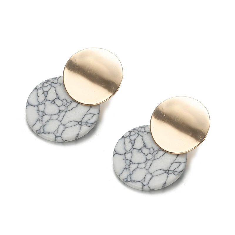 Double Round Earrings - Oneposh