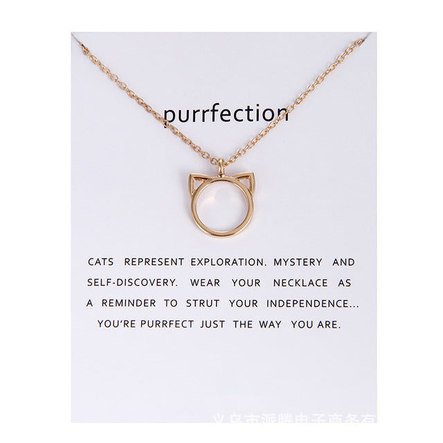 Purrfection Pendant Necklace - Oneposh