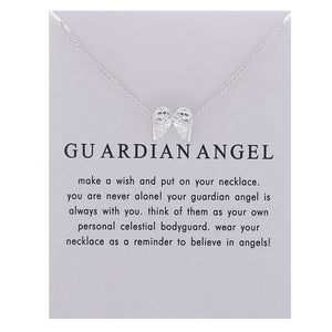 Guardian Angel Pendant Necklace - Oneposh