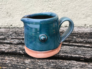 Blue Glaze Jug with Tulip Stamp