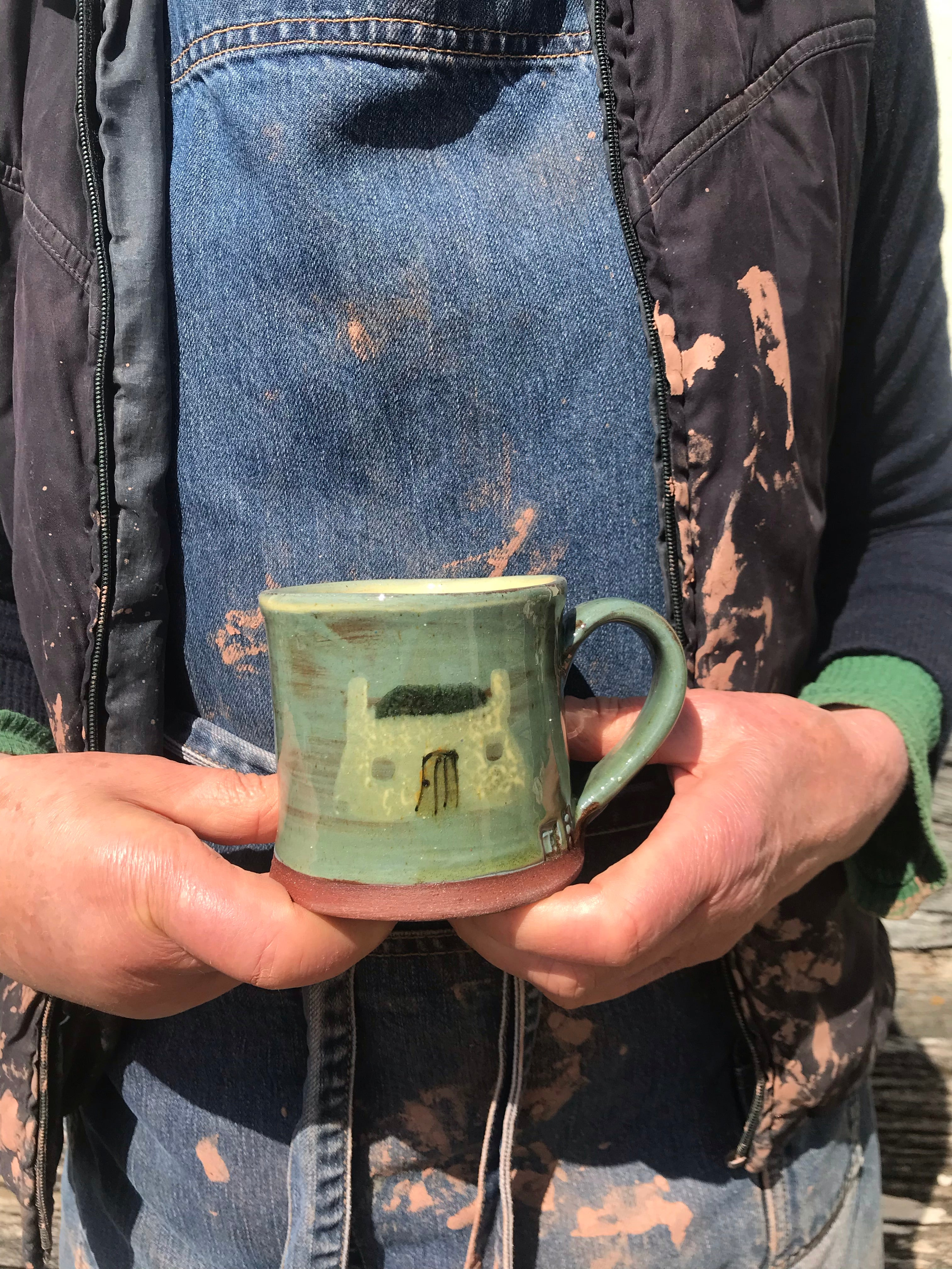 Tiree Black House Mug