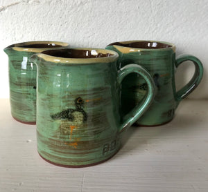 Turquoise Jug with Oystercatchers
