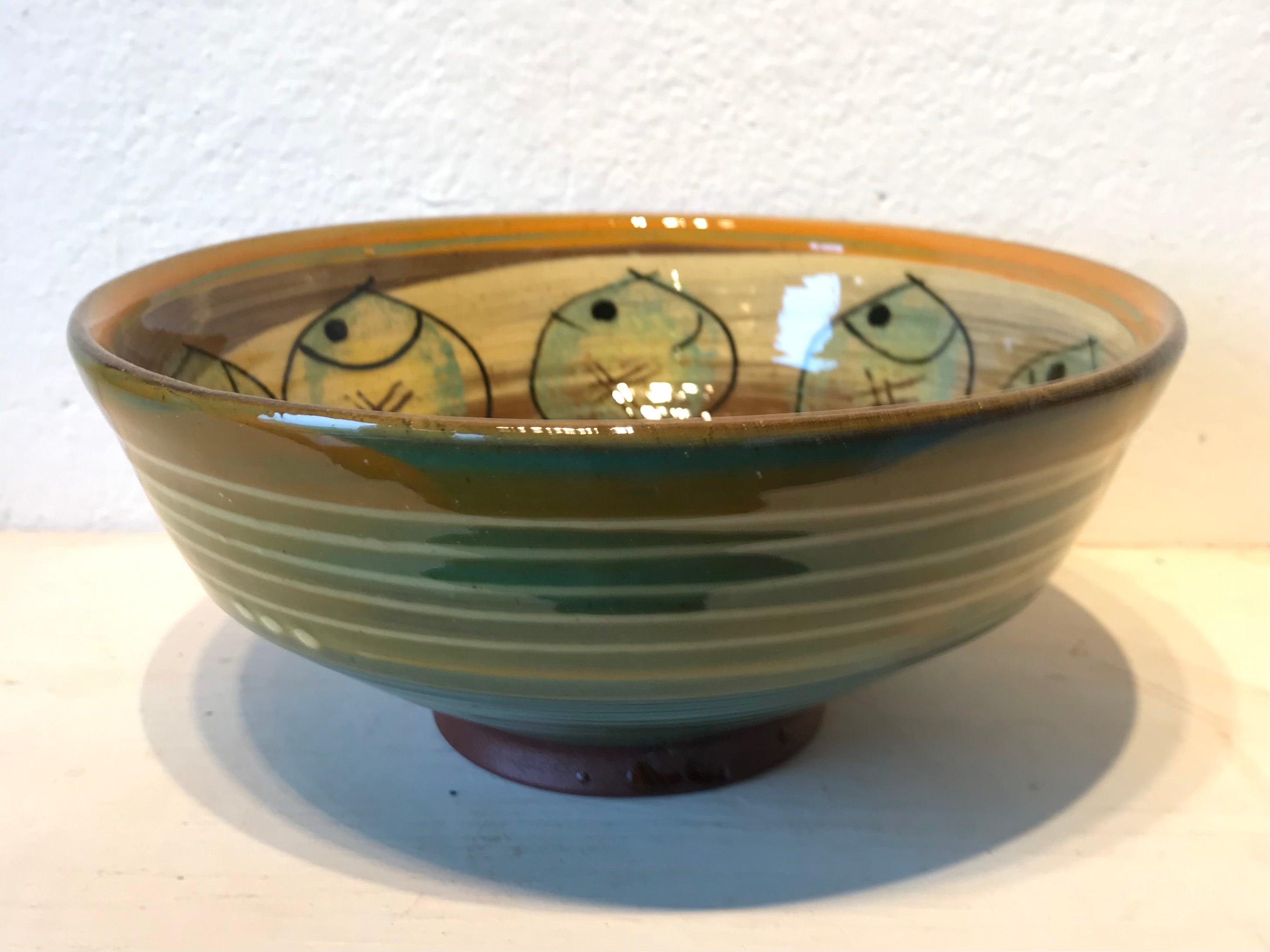 Orange and Cream Bowl with Fat Fish