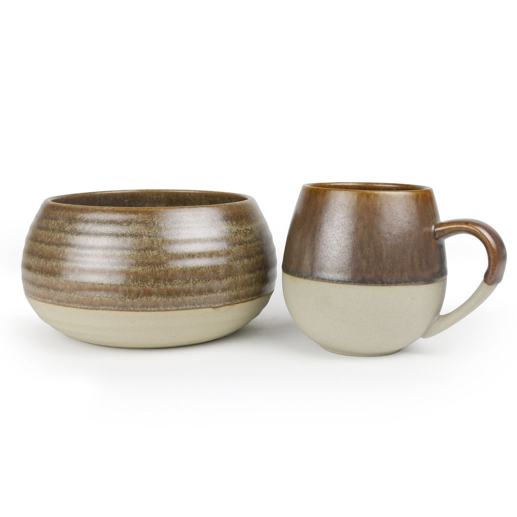 Ceramic Morning set: mug and bowl combo