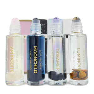 Bopo: crystal infused natural perfume rollers