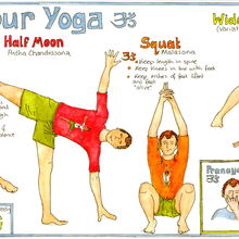 Load image into Gallery viewer, Liz Cook Yoga Chart (male)