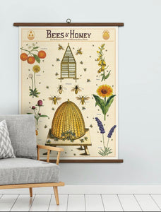 Bees & Honey Vintage Wall Chart