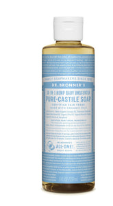 Dr Bronners Baby Unscented Castile Liquid Soap