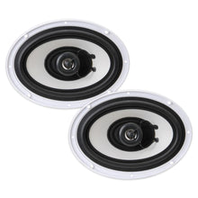 "Load image into Gallery viewer, PYLE PLMR692 6x9"" 260W MARINE OUTDOOR 2-WAY WHITE COAXIAL SPEAKERS"