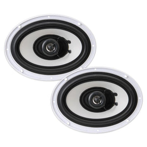 "PYLE PLMR692 6x9"" 260W MARINE OUTDOOR 2-WAY WHITE COAXIAL SPEAKERS"