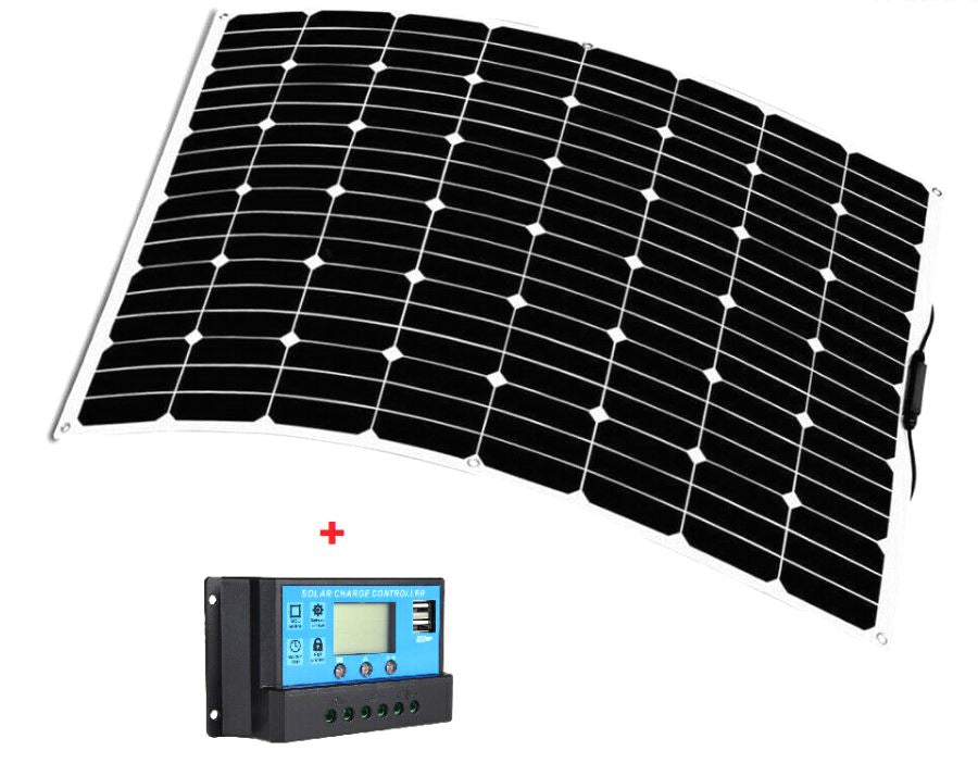12V 250W Mono Flexible Solar Panel Boatb Battery Charging + Regulator