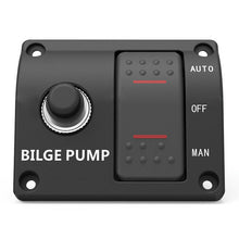 Load image into Gallery viewer, 3-Way Bilge Pump Switch Panel Auto-Off-Manual 12/24V DC Two Gear Control