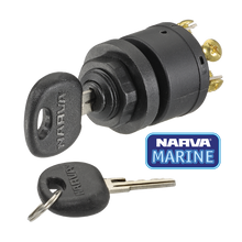 Load image into Gallery viewer, Narva Ignition Switch 3 Position Black Marine