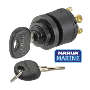 Narva Ignition Switch 3 Position Black Marine