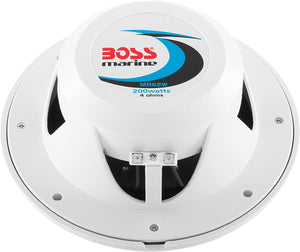 "Boss MR62W 6.5"" 2-Way 200W Marine Full Range Speaker"