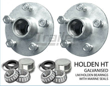Load image into Gallery viewer, TRAILER HT GALVANISED BOAT LAZY HUBS, BEARINGS LM MARINE SEALS SG CASTING