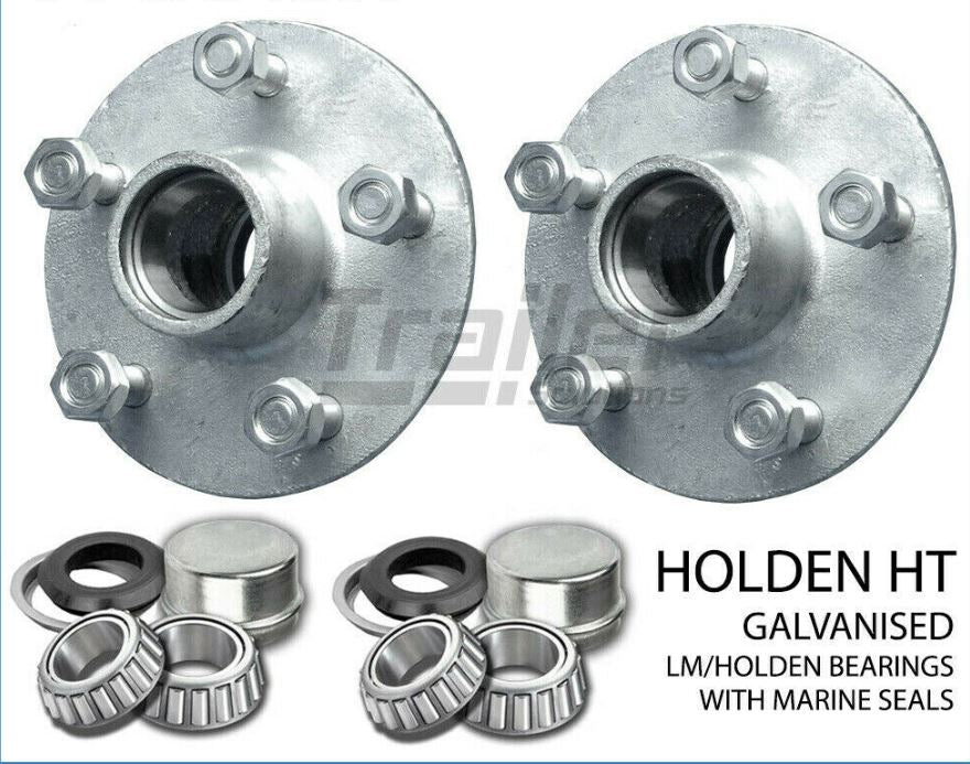TRAILER HT GALVANISED BOAT LAZY HUBS, BEARINGS LM MARINE SEALS SG CASTING