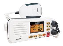 Load image into Gallery viewer, UNIDEN UM355VHF MARINE RADIO SPLASHPROOF IN-BOAT RUGGED WHITE