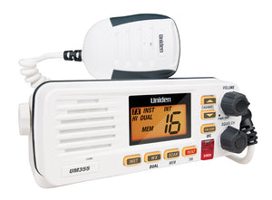 UNIDEN UM355VHF MARINE RADIO SPLASHPROOF IN-BOAT RUGGED WHITE