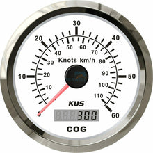 Load image into Gallery viewer, GPS SPEEDOMETER GAUGE 110kph 60knots 85MM BOAT MARINE 12V
