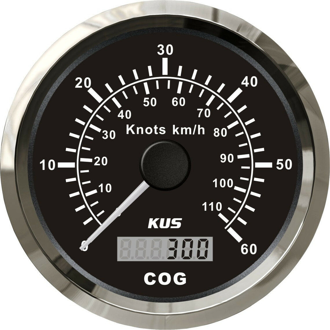 GPS SPEEDOMETER GAUGE 110kph 60knots 85MM BOAT MARINE 12V