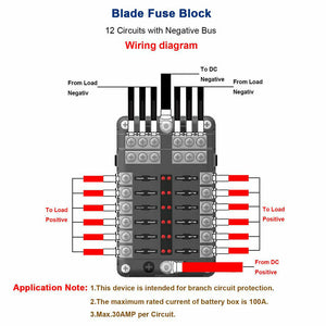12 Ways Blade Fuse Auto Block Box Holder Indicator 12V